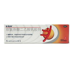 扶他林(双氯芬酸二乙胺乳胶剂)