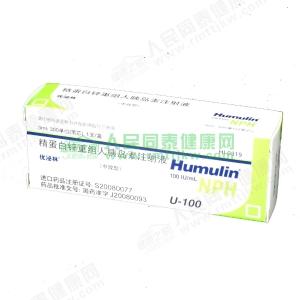 优泌林笔芯(精蛋白锌重组人胰岛素)